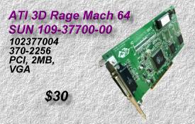 SUN ATI 3D Rage Mach 64, 109-37700-00