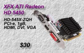 XFX Radeon HD-5450, HD-545X-ZQH