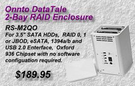 Onnto DataTale RAID Enclosure, RS-M2QO