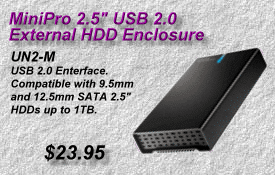 MiniPro USB 2 HDD Enclosure, UN2-M
