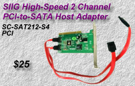 SIIG PCI-to-SATA Adapter SC-SAT212-S4
