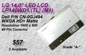 LG LP140WD1 TL  M1, DELL 0GJ494