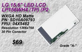 LG LP156WH4, 04X5482, SD10A09793