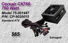 Corsair CX750, 75-001447, CP-9020015