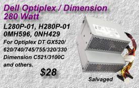Optiplex L280P-01, H280P-01,0MH596, 0NH429