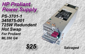 HP Proliant PS-3701-1, 345875-001, 365063-001